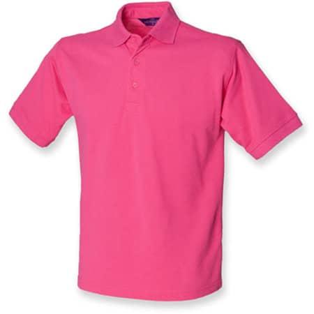 Men`s 65/35 Classic Piqué Polo Shirt in Fuchsia von Henbury (Artnum: W400
