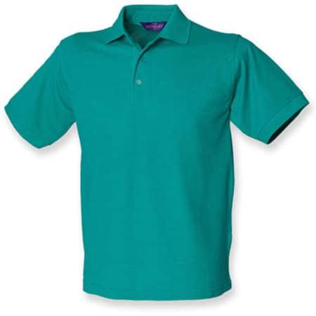 Men`s 65/35 Classic Piqué Polo Shirt in Jade von Henbury (Artnum: W400