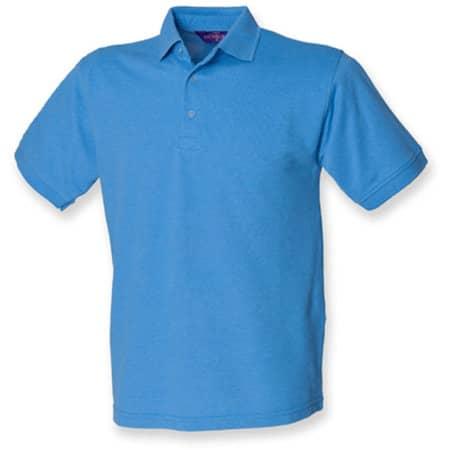 Men`s 65/35 Classic Piqué Polo Shirt in Mid Blue von Henbury (Artnum: W400