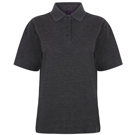 Ladies` 65/35 Classic Piqué Polo Shirt in Charcoal von Henbury (Artnum: W401