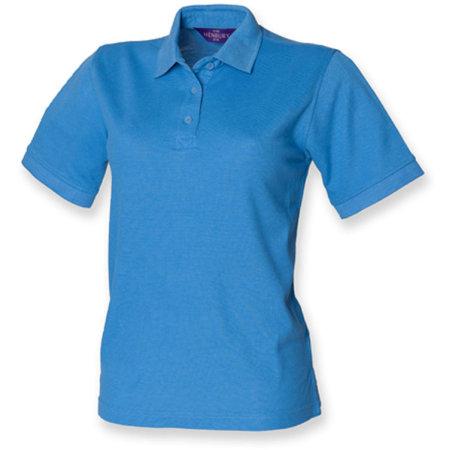 Ladies` 65/35 Classic Piqué Polo Shirt in Mid Blue von Henbury (Artnum: W401