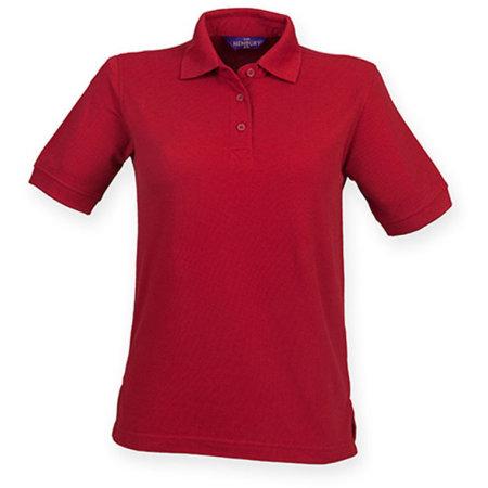 Ladies` 65/35 Classic Piqué Polo Shirt in Vintage Red von Henbury (Artnum: W401