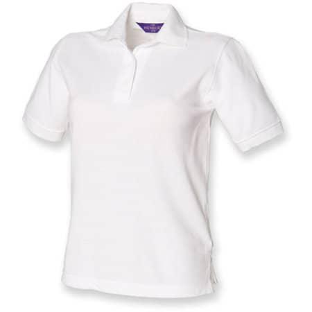 Ladies` 65/35 Classic Piqué Polo Shirt in White von Henbury (Artnum: W401