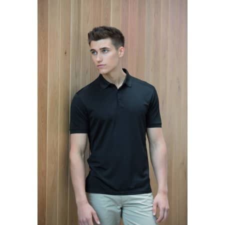 Men`s Stretch Polo Shirt + Wick Finish von Henbury (Artnum: W460