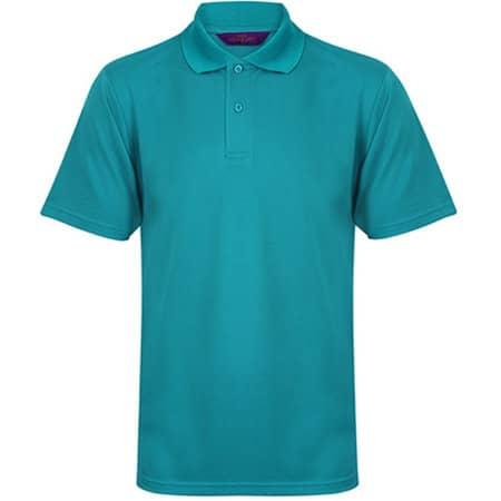 Men`s Coolplus Wicking Polo Shirt in Bright Jade von Henbury (Artnum: W475