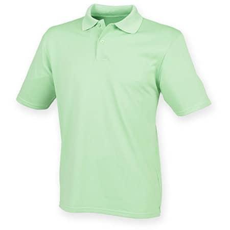 Men`s Coolplus Wicking Polo Shirt in Lime Green von Henbury (Artnum: W475