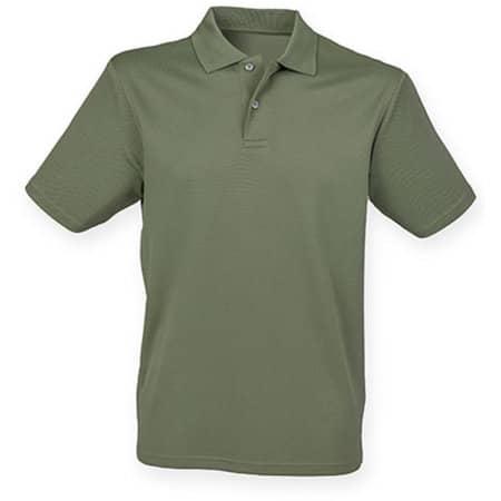 Men`s Coolplus Wicking Polo Shirt in Olive von Henbury (Artnum: W475