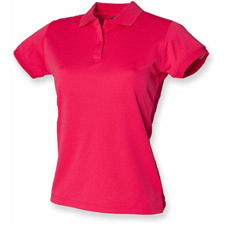 Ladies` Coolplus Wicking Polo Shirt in Bright Pink von Henbury (Artnum: W476
