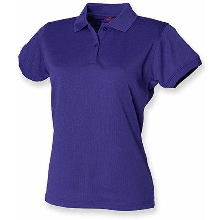 Ladies` Coolplus Wicking Polo Shirt in Bright Purple von Henbury (Artnum: W476