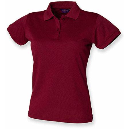 Ladies` Coolplus Wicking Polo Shirt in Burgundy von Henbury (Artnum: W476