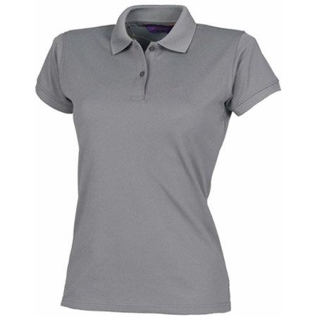 Ladies` Coolplus Wicking Polo Shirt in Charcoal von Henbury (Artnum: W476
