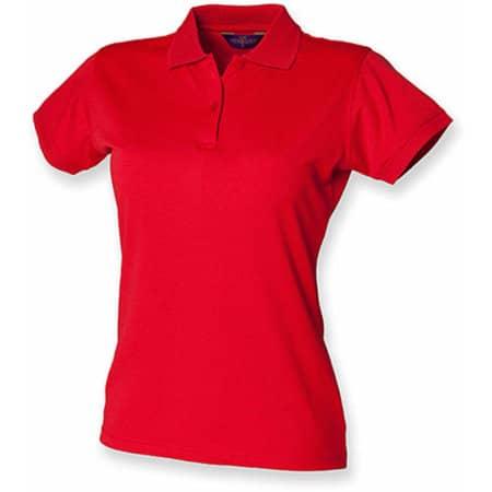 Ladies` Coolplus Wicking Polo Shirt in Classic Red von Henbury (Artnum: W476