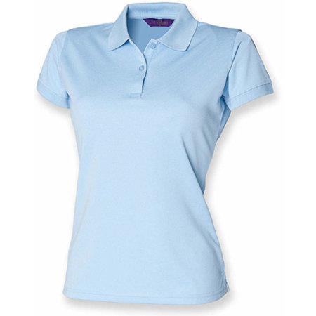 Ladies` Coolplus Wicking Polo Shirt in Light Blue von Henbury (Artnum: W476