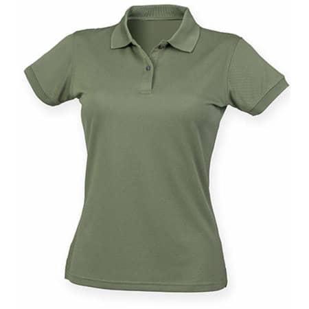 Ladies` Coolplus Wicking Polo Shirt in Olive von Henbury (Artnum: W476