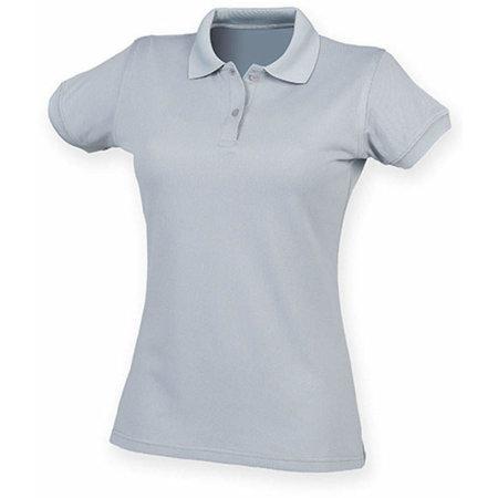 Ladies` Coolplus Wicking Polo Shirt in Silver Grey (Solid) von Henbury (Artnum: W476
