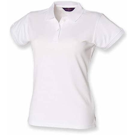 Ladies` Coolplus Wicking Polo Shirt in White von Henbury (Artnum: W476