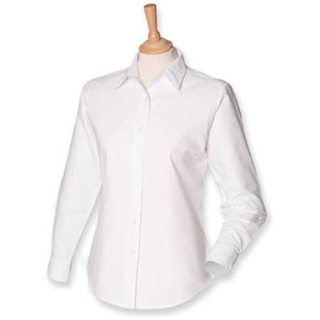 Ladies` Classic Long Sleeved Oxford Shirt in White von Henbury (Artnum: W511