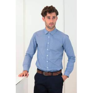 Men`s Gingham Cofrex/Pufy Wicking Longsleeve Shirt