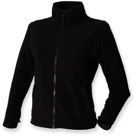 Ladies` Microfleece Jacket W851 in Black von Henbury (Artnum: W851