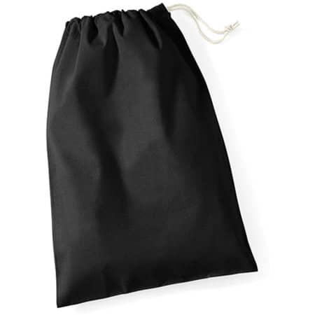 Cotton Stuff Bag in Black von Westford Mill (Artnum: WM115