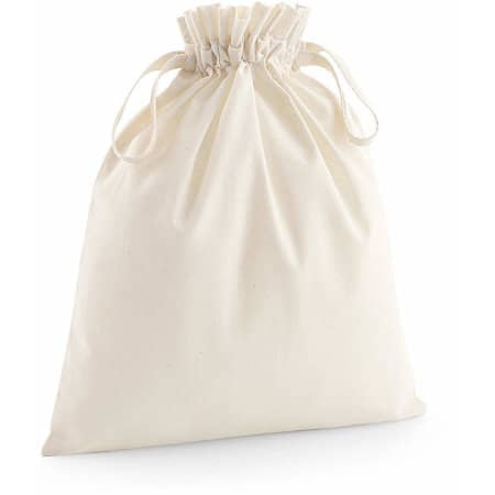 Organic Cotton Draw Cord Bag in Natural von Westford Mill (Artnum: WM118