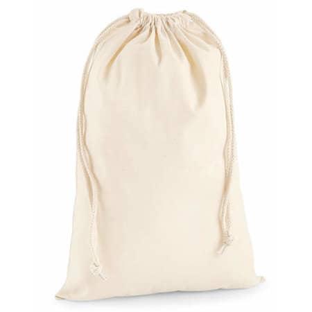 Premium Cotton Stuff Bag in Natural von Westford Mill (Artnum: WM216