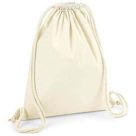 Organic Premium Cotton Gymsac in Natural von Westford Mill (Artnum: WM260