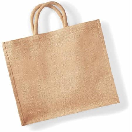 Jute Jumbo Shopper in Natural von Westford Mill (Artnum: WM408