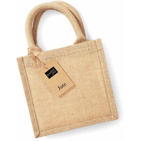 Jute Petite Gift Bag in Natural von Westford Mill (Artnum: WM411