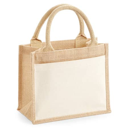 Cotton Pocket Jute Gift Bag in Natural von Westford Mill (Artnum: WM425