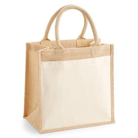 Cotton Pocket Jute Midi Bag von Westford Mill (Artnum: WM426