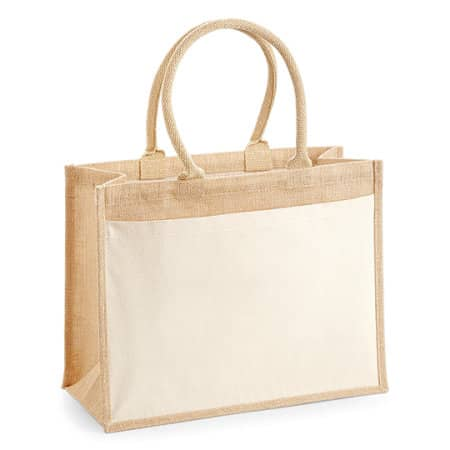 Cotton Pocket Jute Shopper in Natural von Westford Mill (Artnum: WM427