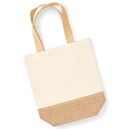 Jute Base Canvas Shopper in Natural von Westford Mill (Artnum: WM450