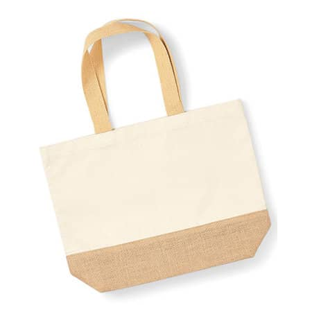 Jute Base Canvas Bag in Natural von Westford Mill (Artnum: WM451