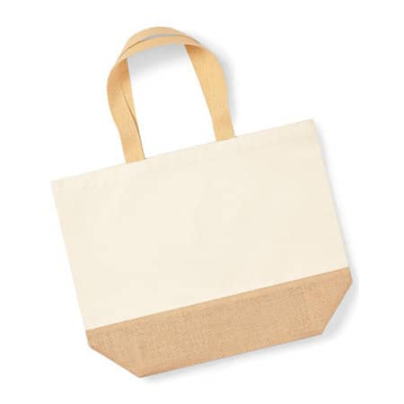 Jute Base Canvas Bag XL in Natural von Westford Mill (Artnum: WM452