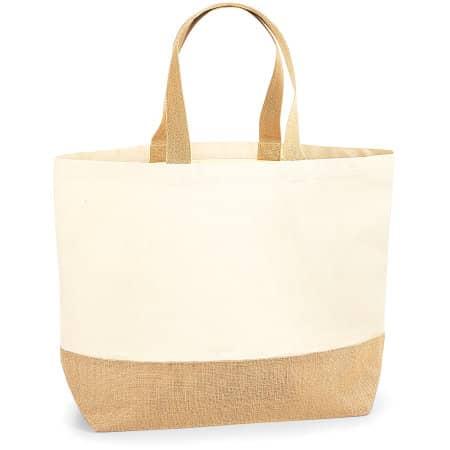 Jute Base Canvas Bag XL von Westford Mill (Artnum: WM452