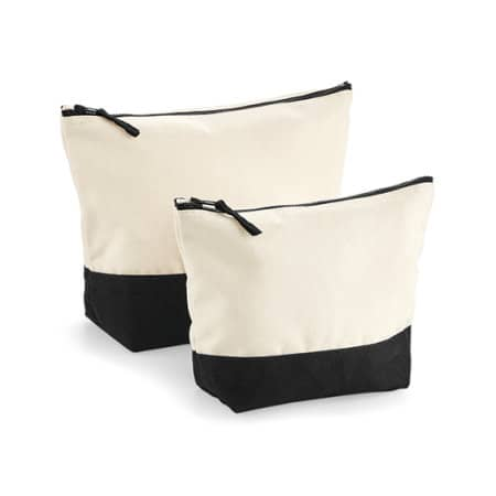 Dipped Base Canvas Accessory Bag in Natural|Black von Westford Mill (Artnum: WM544