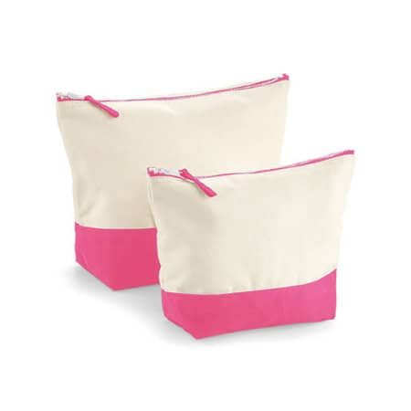 Dipped Base Canvas Accessory Bag in Natural True Pink von Westford Mill (Artnum: WM544