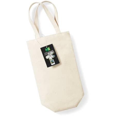 Fairtrade Cotton Bottle Bag in Natural von Westford Mill (Artnum: WM620