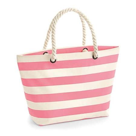 Nautical Beach Bag in Natural Pink von Westford Mill (Artnum: WM680