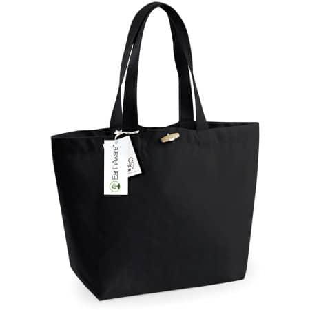 EarthAware™ Organic Marina Bag in Black von Westford Mill (Artnum: WM850