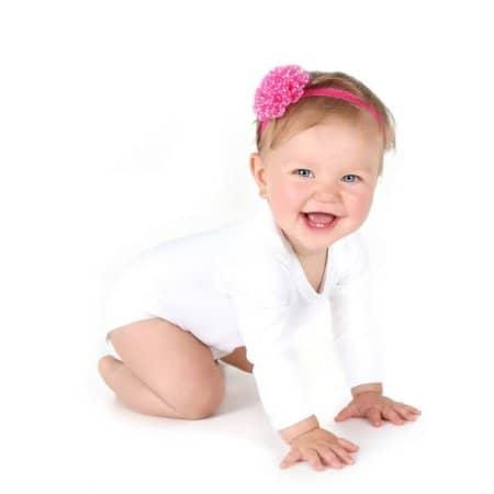 Long Sleeve Baby Bodysuit Polyester von Link Sublime (Artnum: X805