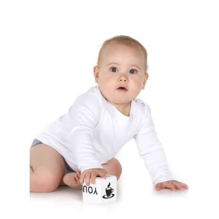 Long Sleeve Baby T-Shirt Polyester von Link Sublime (Artnum: X806