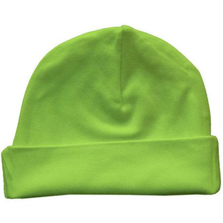 Bio Baby Hat in Lime Green von Link Kids Wear (Artnum: X944