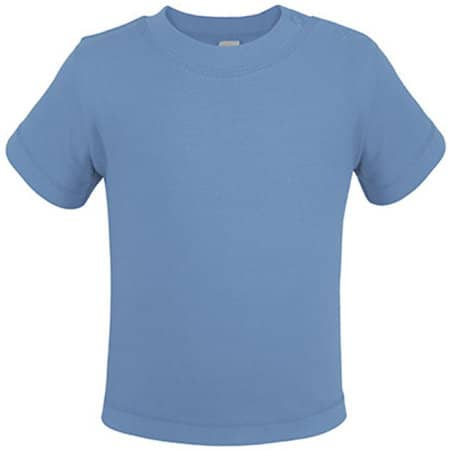 Bio Short Sleeve Baby T-Shirt in Babyblue von Link Kids Wear (Artnum: X954