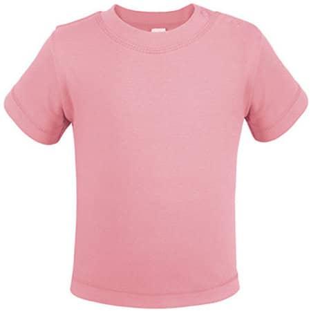 Bio Short Sleeve Baby T-Shirt in Babypink von Link Kids Wear (Artnum: X954