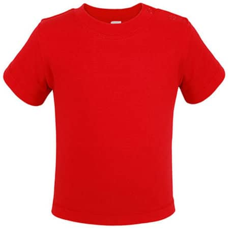 Bio Short Sleeve Baby T-Shirt in Red von Link Kids Wear (Artnum: X954