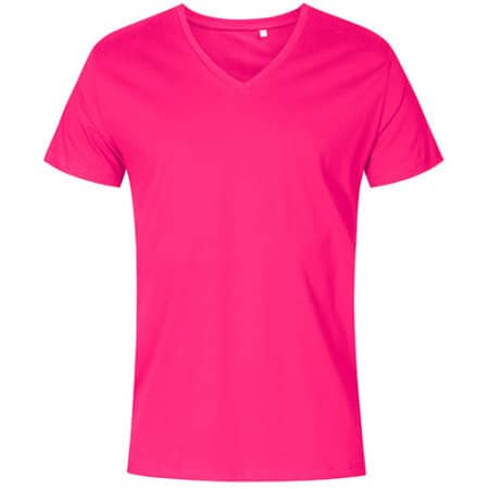 Men´s V-Neck T-Shirt in Bright Rose von X.O by Promodoro (Artnum: XO1425