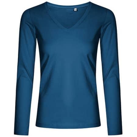 Women´s V-Neck T-Shirt Longsleeve von X.O by Promodoro (Artnum: XO1560