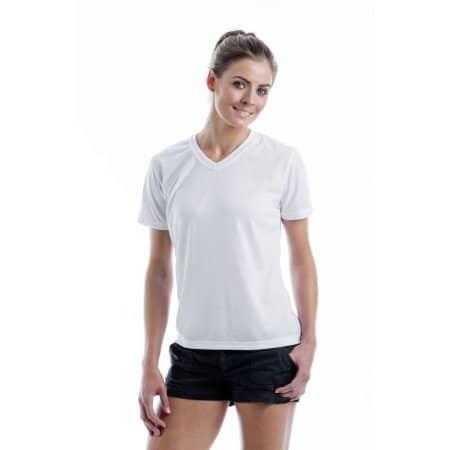 Women`s Subli Plus® V Neck T-Shirt von Xpres (Artnum: XP522